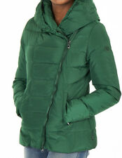 GENUINE WOMENS ARMANI JEANS GREEN DOWN DIAGONAL ZIP JACKET UK 10