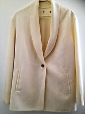 VINCE Long Sleeve wool Sweater jacket Winter White L 12  Wool- NWOT