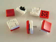 ITT Cannon Push Button Switch PCB Mount SPST/PTM & Red Square Cap 5pieces OM783D