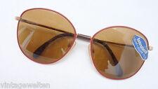 Rodenstock Sonnenbrille Damen braune sehr große Panto Gläser rot goldene Fassung