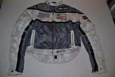 ICON TARMAC ASPHALT TECH BIKER MOTORCYCLE GRAY WHITE JACKET MENS SIZE MEDIUM M