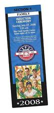 2008 MLB Hall Of Fame Induction Day Ceremony Ticket Goose Gossage, Dick Williams