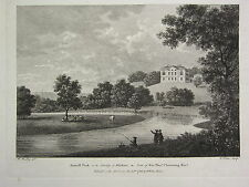 1786 DATED PRINT ~ AXWELL PARK COUNTY OF DURHAM ~ SEAT OF SIR THOMAS CLAVERING