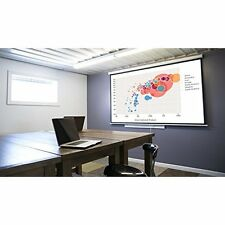 """Projector Screen 100"""" 16:9 Pull Down Wall Ceiling Instalation Black Backing"""