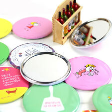 5pcs Mixed Cute Cartoon Small Portable Woman Mirror Cosmetic Round Mirror Lovely