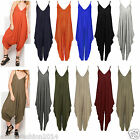 Womens Ladies Lagenlook Cami Strappy Baggy Harem Jumpsuit Playsuit Dress Top