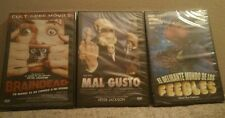 Pack 3 Dvd,Peter Jackson:Braindead+Bad taste(Mal gusto)+Feebles