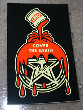 SHEPARD FAIREY Obey Giant Sticker 2.5 X 4 in COVER THE EARTH from poster print