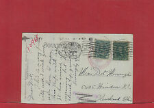 US franked RETURNED FOR POSTAGE 1908 DLO Dead Letter Office Post card Canada
