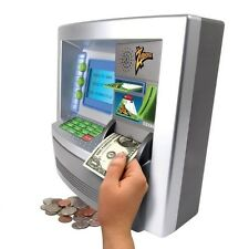 Money Safe With Slot For Kids Children ATM Bank Card Cash Deposit Savings Toy