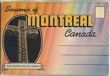Vintage 1940s Postcard View Book MONTREAL, CANADA