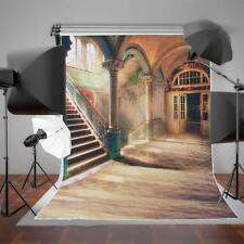 5x7ft European Hallway Stairs Vinyl Photography Backdrop Studio Props Background