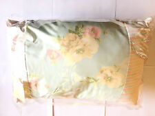 STYLISH LAURA ASHLEY BRAMWELL DECORATIVE CUSHION FLORAL DUCK EGG 30CMX45CM NEW