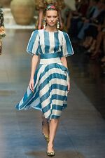 80% OFF!! Dolce & Gabbana SS13 £2500 Striped Voile Skirt & Top New IT36/38 UK4/6