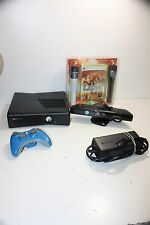 Microsoft Xbox 360 S Console Bundle w/Game Lips/Kinect Tested/Works/Wiped VG #1