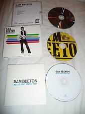 3 X SAM BEETON PROMO CDS WHAT YOU LOOK FOR & NO DEFINITE ANSWER DJ CD x 2