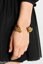 YSL Yves Saint Laurent Animalier Bracelet Brass Metal Cuff Serpent Medium $1095