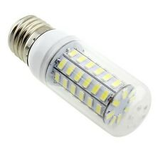 220V E27 48 LEDS 9W LED 5730 Cool White Corn Light Bulb Bright Lamp With Cover