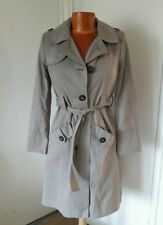 DEBENHAMS PETITE beige raincoat coat with belt  size 6 BNWOT