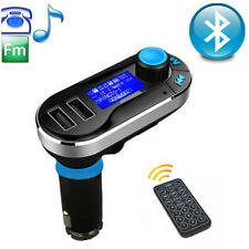 Silver Car Bluetooth FM Transmitter MP3 Player USB Charger for Android/Apple CAD