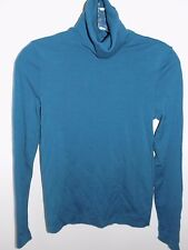 Wolford Light Merino Wool Teal Turtleneck Sweater Long Sleeve EUC Small