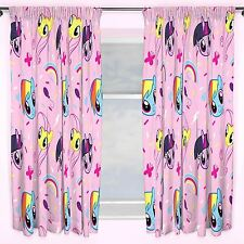 MY LITTLE PONY EQUESTRIA DESIGN 72 INCH LENGTH CURTAINS GIRLS PINK BEDROOM