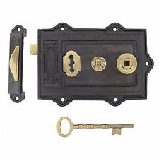 Davenport en fonte époque victorienne traditionnel antique porte rim lock & keys