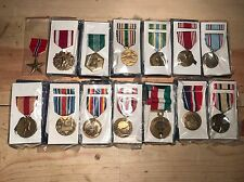 LOT OF 14 NEW OFFICIAL ISSUE US MILITARY MEDALS W/ A WWII BRONZE STAR