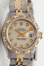 Estate $10,000 18k Yellow Gold SS Genuine Ladies ROLEX DATEJUST Watch & BOX Wty