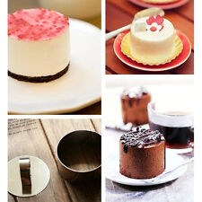 New Lovely Stainless Steel Mousse Cake Ring Mold Cupcake Mould Baking