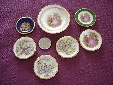 Limoges Miniature Plates (7) Romantic Victorian Couples