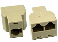 2X Pcs RJ45 CAT 5 6 LAN Ethernet Splitter Connector Adapter PC