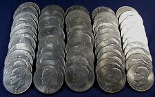Lot of 50 Mixed Eisenhower Dollars Dating From 1971 to 1978 All Nice XF to BU