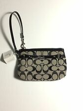 New With Tag Coach 48299 Gallery Signature Black Grey Wrislet