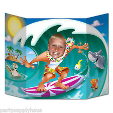 LUAU Ocean Wave SURFER DUDE stand-up PHOTO PROP Beach Party Decoration