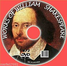 OVER 220+ PLAYS POEMS SONNET WILLIAM SHAKESPEARE MP3 AUDIOBOOKS PC DVD NEW