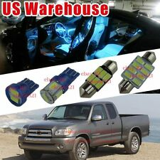 9-pc Aqua Ice Blue LED Interior Lights Package Kit for Toyota Tundra 2000-2004