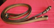 "Used English Bridle Flat  Reins with Hooks Ends Horse Tack 54""×1/2"""