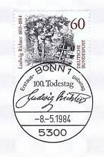 BRD 1984: Ludwig Richter Nr. 1213 mit dem Bonner Ersttagssonderstempel! 1A 155