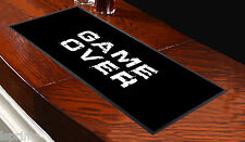 GAME OVER QUOTE BAR RUNNER L&S PRINTS IDEAL FOR PUBS CLUBS PARTIES BLACK WHITE
