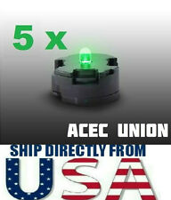 5 X High Quality MG 1/100 QANT Raiser Gundam GREEN LED Lights - U.S.A. SELLER