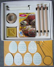 Easter Egg Decorating Kit,H+M+F Wax Pens+15 Dyes+Wax+Stand+Dip+Candle in Box