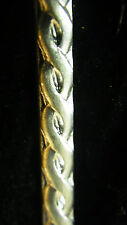 925 STERLING Silver Bezel Strip Wire TWIST ROPE Pattern 1 INCH 100% Recycled USA