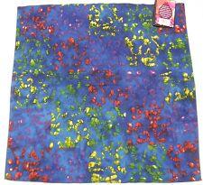 NEW Genuine Batik Tie Dye Cotton Bandana Scarf Do-Rag Handmade India Boho NWT