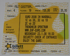 Ticket collector EURO 2008 Handball Spain Germany Hungary Iceland France Sweden