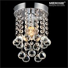 Crystal Chandelier Small Clear Crystal Lustre Lamp for Aisle Hallway light
