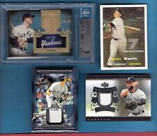 MICKEY MANTLE MATTINGLY DEREK JETER JERSEY GAME USED BAT CARD LOU GEHRIG BGS 9