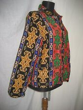 Chico's Turkish Woven Tribal Ethnic Southwest BOHO Artsy Jacket sz 1 / Small