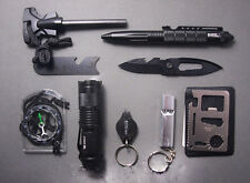 Professional Survival Kit Outdoor Travel Hike Field Camp Emergency Kits 10 in 1