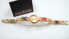Joan Rivers Inlaid Multi-Color Jeweled Stones, Red, Purple, Green Bracelet Watch
